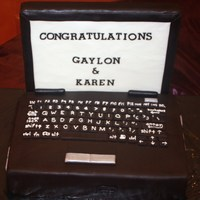 Laptop Groom's Cake   Styrofoam ScreenChocolate cake/buttercream