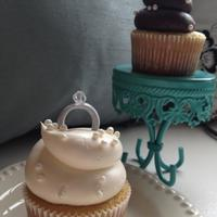 Engagement Party Diamond Ring Cupcakes