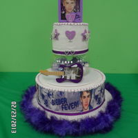 Justin Bieber Birthday Cake my grandaughter got the bieber fever! made this cake for her 6yr old birthday party. all the kids loved it. may be hard to see but...