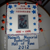 Womans Basketball Hof Cake first thank you to CC'ers Normita, Colababy and Blakescakes for all your help you gave me in covering a cake dummy and edible image....