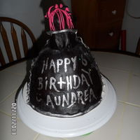 Monsterhigh Draculaura Birthday Cake the cape was her idea and she wrote the words on the cape.im so proud of her.