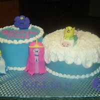 Adventure Time Birthday Adventure time b-day cake for my grandson's 6th birthday!
