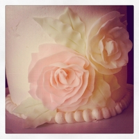 Ruffled Flowers Birthday Cake