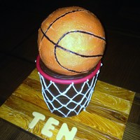 Basketball   For my son's birthday! The other photos show the entire dessert display, including homemade scoreboard!