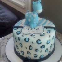 Blue Safari Baby Shower Fondant Giraffe Blue Safari Baby Shower - Fondant Giraffe