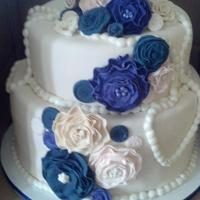 Vintage Bridal Shower *Bridal Shower Cake with vintage roses