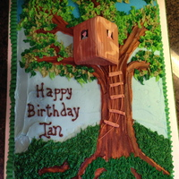 Magic Tree House  Finished product. Inspired by pavigiri cake on cake central. All edible, all buttercream except stairs and 3-d tree house (fondant). Large...
