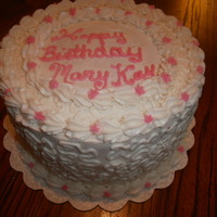 Simple Birthday Cake WASC with strawberry mousse. Buttercream