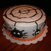 Spider Cake A spice cake with buttercream and oreo spiders. Got the idea from many of the spider cakes on CC.