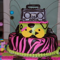 80S Themed 30Th Birthday Cake 80's themed cake to go with the 80s themed party. Inspired by cakes here on cc. Bottom tier is chocolate fudge, top tier and boom box...