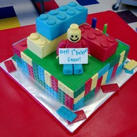 Lego Yellow Man Birthday Cake Lego Themed Cake for 7 year old birthday.