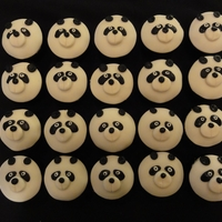 Panda Cupcakes 3 year old birthday party at pre-school. See other photo for the birthday cake.