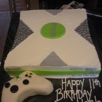 Xbox Chocolate cake with cookies and cream filling. MFF details. RKT controller.