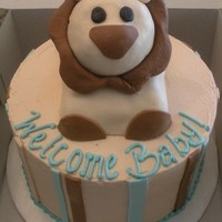 Lion Baby Cake Red Velvet with cream cheese filling. RKT head. MFF accents.