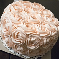 Buttercream Roses Cake  just your standard buttercream rose cake. made for a little girl's first birthday who's mom wanted something vintagey to go with...
