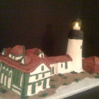 Portland Headlight Lighthouse Front Angle(All Buttercream)
