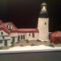 Portland Headlight Lighthouse (All Buttercream)   Done for a favorite customer who loves to challenge me!!
