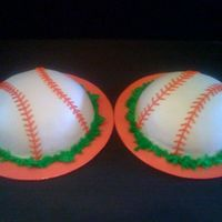 Dual Baseballs In Buttercream   For my girls end of season team parties all buttercream ....