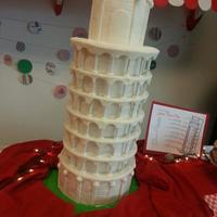 A Night In Italy, Leaning Tower Of Pisa   Leaning Tower of Pisa tiered cake