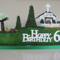 Pastor's 60Th Birthday 60th Birthday Cake for our pastor. I wanted to incorporate church and fishing together so came up with the idea of the pastor closing the...