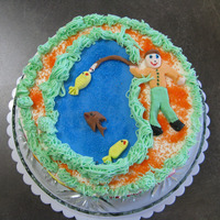 Fishing My 6 year old daughter's very first cake that she decorated. I had a buttercream iced cake and told her she could do whatever she...