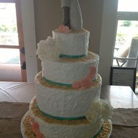 Celebration Cake For A Couple Who Had A Beach Destination Wedding Celebration cake for a couple who had a beach destination wedding.