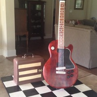Bride Wanted To Surprise Her Groom With A Cake To Replicate His Favorite Les Paul And Fender Amp It Was Kept In A Home Near The Reception S... Bride wanted to surprise her groom with a cake to replicate his favorite Les Paul and Fender amp. It was kept in a home near the reception...
