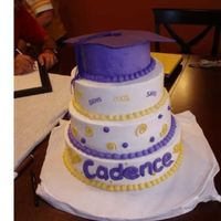 Graduation Cake  this was my daughters cake. it was supposed to have been so much more, but I simply ran out of time. I actually finished this cake after my...