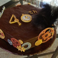 Steampunk 40Th Birthday Cake This Steam Punk Birthday cake is carrot cake, as well as being Gluten free, Egg free, Dairy free, it is also Potato Starch, Soy Starch and...