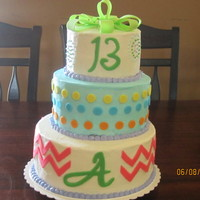 Birthday Cake For A Girl Turning 13