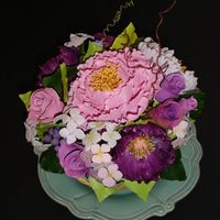 Flower Bowl   I made these GP flowers for a client. They are in a sugar bowl and went on the top of a cake.