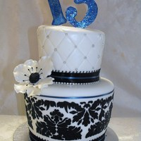 Whimsical And Domask Birthday Cake