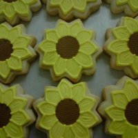 Sunflower Cookies   OMG! Decorated 250 in one night.