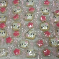 Hello Kitty Cookie Lei Hello Kitty/Flower Sugar Cookie Lei. I shrink wrap cookies before placing them in the plastic tubing. This lei is very popular during...