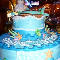 Mermaid Graduation Cake Cake I made for niece's graduation from university