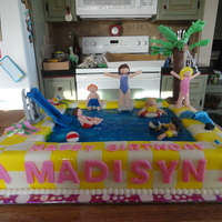 12 Sheet Cake Covered In Bc Amp Mmf Kids Are All Made Of Gumpaste Palm Tree Is Long Tootlie Rolls On A Skewer Covered In Chocolate 1/2 sheet cake covered in BC & MMF. Kids are all made of gumpaste. Palm tree is long tootlie rolls on a skewer, covered in chocolate,...