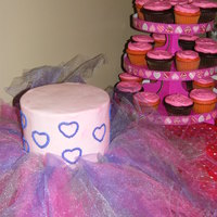 Anna's Tutu Cake My daughters 7th bday cake...she was very into ballerinas and everything girly. The tulle didn't come out the way I wanted...it wasn&#...
