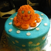 Octopus My baby boy's first birthday cake, for a beachy themed party! The octopus was his smash cake.