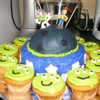 Sams Toy Story Cake My son is crazy about Toy Story, so that's what we did for his 5th bday. He likes Buzz better so I decided to go more with a space...