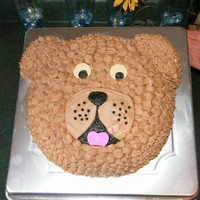 Dog This was my first (and only) attempt at a character pan. I wanted to do a dog cake for my son's 3rd bday so I used the bear pan and...