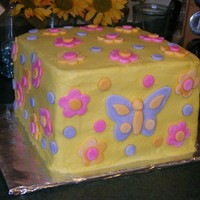 Flowers And Butterflies I made this cake for my DD's 5th birthday...she requested flowers and butterflies and this is what I came up with. It was HUGE....I...