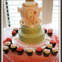 Princess Coach Cake and mini cupcakes made for a little princesses 1st birthday. TFL