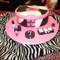 Make-Up Case For Abby I used Seraphim's cosmetic's case cake as inspiration for my daughter's 7th birthday. We had the party at our mall and they...