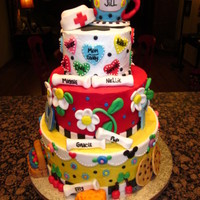 Jill's Fabulous 50Th My friend Jeni and I made this cake for my sister, Jill, who was turning 50. We incorporated many of her favorite things and life...