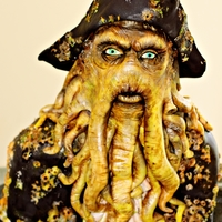 Davy Jones Cake All edible Davy Jones cake from the Pirates of the Caribbean.