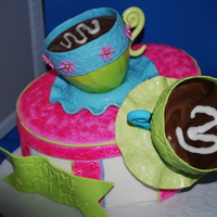 Cups 'n Cakes  I originally made this cake (a play on my compny name) for auction for BBBS which went for $850. I'm so proud that it helped raise...