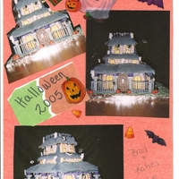 Halloween Haunted House All edible except purple balls and Posts(gray)