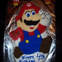 Super Mario Made for a boy that recently broke his arm and having a bday. I made Mario have a red (fondant) cast like the bday boy. He LOVED the...