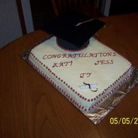 Graduation Cake This cake was for a three college graduates, they wanted something simple that would work well for male and female. This is one of my first...