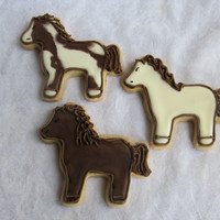 Horse Cookies   Sugar cookies with royal icing.